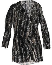 9a45b493 Balmain Ruched Stretch-jersey Mini Dress in Brown - Lyst