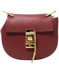 Chloé - Drew Red Leather Handbag - Lyst
