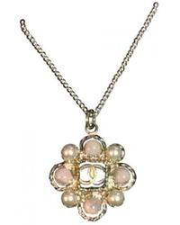 Chanel Gold Pink Gold Necklaces - Metallic