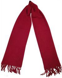 Celine Vintage Red Cashmere Scarves