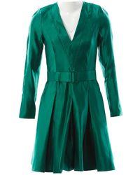 Jonathan Saunders \n Green Silk Dress