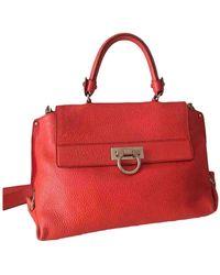 Ferragamo Sofia Leder Handtaschen - Rot