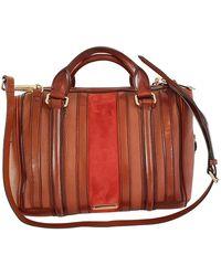 Burberry - The Barrel Brown Leather Handbag - Lyst