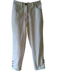 Chanel Short Jeans - White