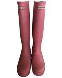 HUNTER Regenstiefel - Pink