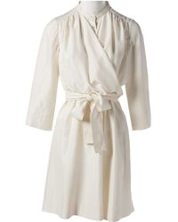 Chloé \n Ecru Silk Dress - Natural