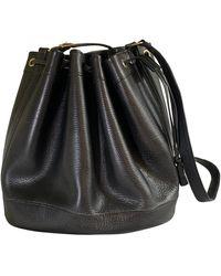 Hermès Bolsa de mano en cuero negro Mangeoire