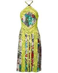 Christopher Kane Robe en Viscose Multicolore - Vert