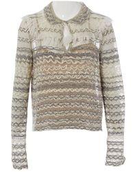 Chanel Leinen Pullover - Grau
