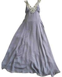Jenny Packham Silk Maxi Dress - Gray