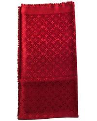 Louis Vuitton Châle Monogram Seide Stola - Rot