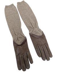 Brunello Cucinelli \n Beige Cashmere Gloves - Natural