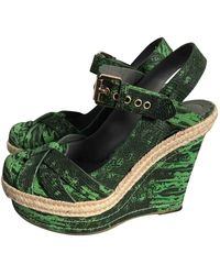Mulberry Green Cloth Espadrilles