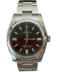 Rolex Oyster Perpetual 36mm Black Steel Watches