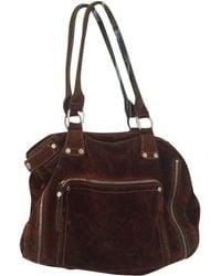 Longchamp - Brown Suede Handbag - Lyst