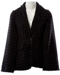 Sonia Rykiel Anthracite Tweed Jacket - Black