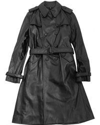 Dior - Black Leather Coat - Lyst
