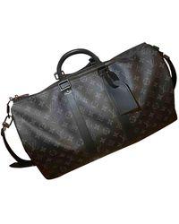 Louis Vuitton Sac Keepall en Toile Noir