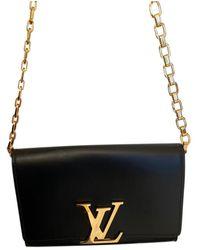 Louis Vuitton Louise Black Leather Handbag