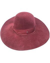 Dior Cappelli in coniglio bordeaux - Rosso