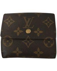 Louis Vuitton Leinen Portemonnaie - Braun