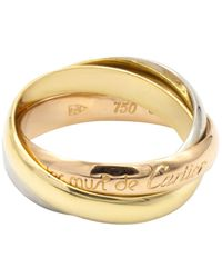 Cartier Trinity Multicolor Yellow Gold Rings - Metallic