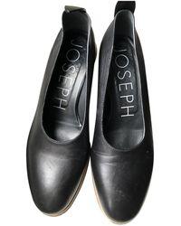 JOSEPH Leather Heels - Black