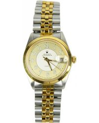 Rolex - Pre-owned Vintage Silver Gold Plated Watches - Lyst