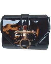 Givenchy Obsedia Patent Leather Crossbody Bag - Black