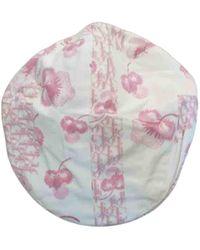 Dior Cloth Hat - Pink