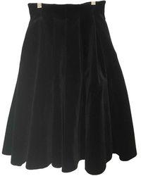 Maje Velvet Mid-length Skirt - Black