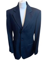 Vivienne Westwood Costume en laine - Bleu