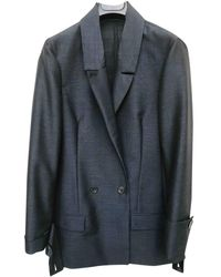 CALVIN KLEIN 205W39NYC Linen Blazer - Blue
