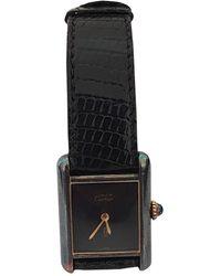 Cartier Tank Must Vermeil Uhren - Schwarz