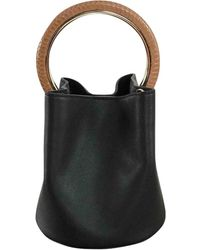 Marni Pannier Black Leather Handbag