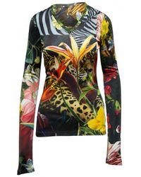 Roberto Cavalli - Multicolour Viscose Top - Lyst