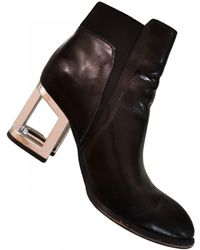 Jeffrey Campbell Patent Leather Ankle Boots - Black