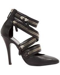 Balmain Black Leather Heels