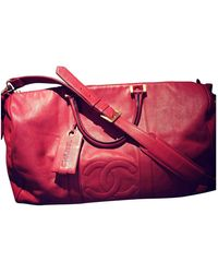Chanel Leather 48h Bag - Red