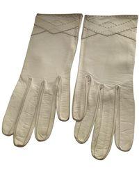 Dior Leder Handschuhe - Weiß