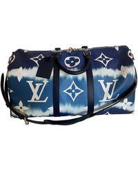Louis Vuitton Keepall Leinen 48 std/ tasche - Blau