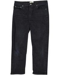 Acne Studios Row Straight Jeans - Black