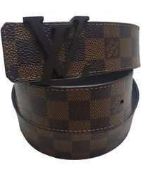 Louis Vuitton Leinen Gürtel - Braun