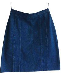 Chanel Falda midi - Azul