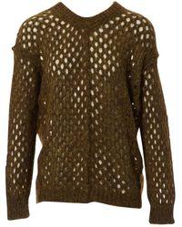 Isabel Marant Khaki Wool Knitwear - Multicolour