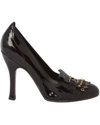 Louis Vuitton - Brown Leather Heels - Lyst
