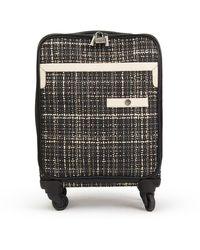 Chanel Black Tweed Travel Bag