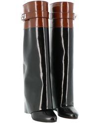 Givenchy Shark Leder Stiefel - Schwarz