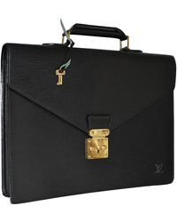 Louis Vuitton Serviette Ambassadeur Leder Aktentaschen - Schwarz