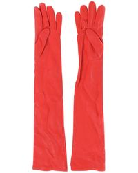 Givenchy Leather Long Gloves - Red